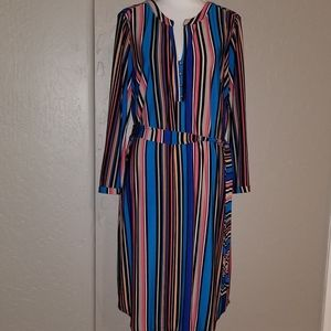 Dana Buchman Belted Shirt Dress L